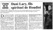 FILS D'HOUDINI dani lary magicien magic illusion