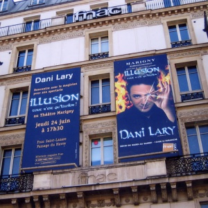 dani lary magicien illusion magic show facade fnac promotion spectacle